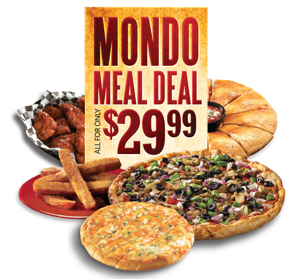 Mondo Meal Deal. All for only $29.99. At participating locations.