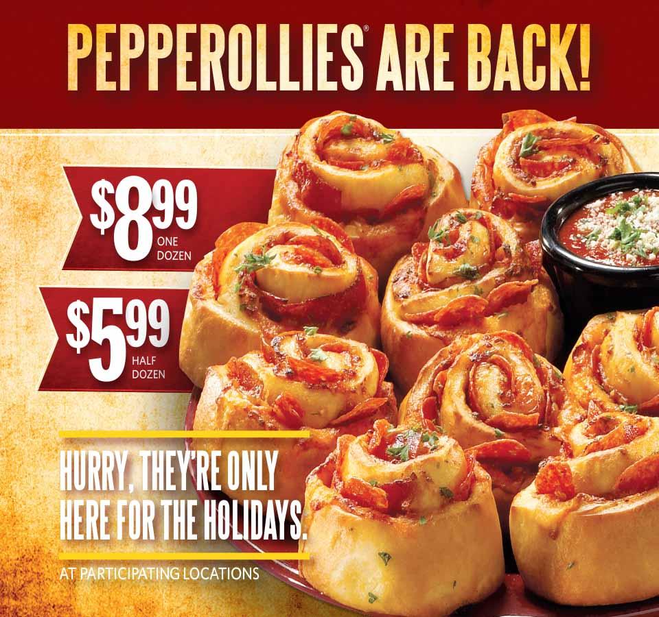 Pepperollies are back! $8.99 Onde Dozen. $5.99 Half Dozen.