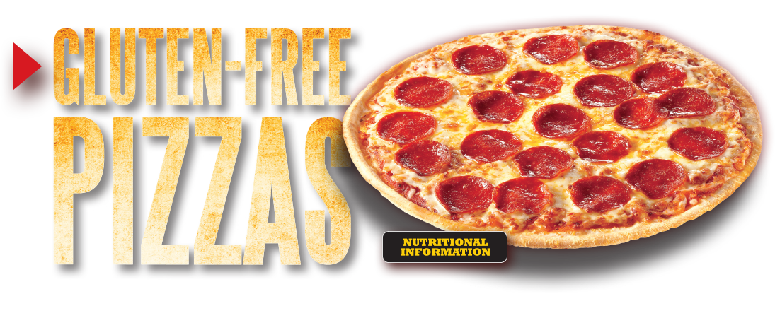Gluten Free Pizzas. Click here for nutritional information.